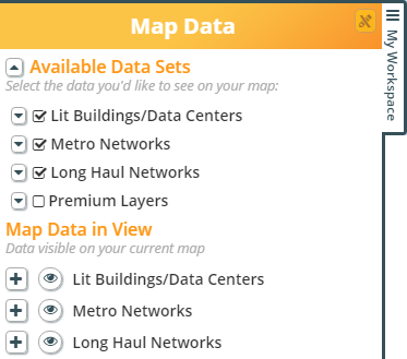 map data in view