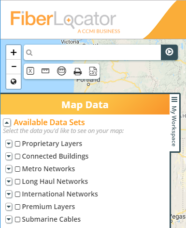 FiberLocator Map Data